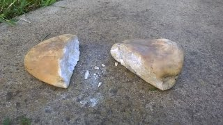 How to Break Rock Hard Stone with your Bare Hands