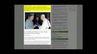 Ahmadiyya Muslime geben PAPST BENEDIKT KORAN und laden zum Islam ein