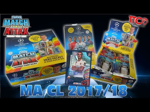 48 MATCH ATTAX CHAMPIONS LEAGUE 17/18 BOOSTER PACKS + 6 BLISTER + 1 DISPLAY BOX 16/17