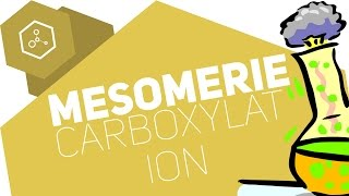Mesomerie des Carboxylat-Anions