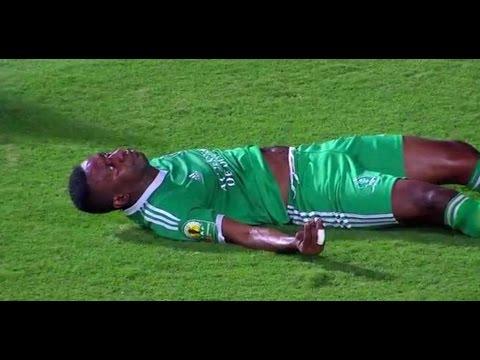Rudy Ndey injured player AC Léopards against Zamalek