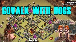 Golem & Valk With Hogs Attack Th9 | How To GoVaHo Attack Strategy Th9 | Clash of Clans