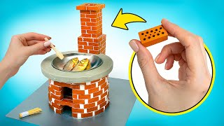 DIY Miniature Stove From Bricks 🧱
