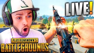 MY FIRST TIME EVER PLAYING... BATTLEGROUNDS! *LIVE*