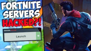 FORTNITE SERVERS HACKED DOWN & OFFLINE?! | Fortnite Battle Royale Funny Moments