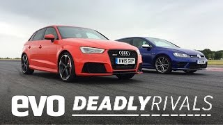 Audi RS3 vs Volkswagen Golf R | evo DEADLY RIVALS