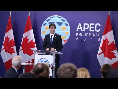 PM Trudeau delivers remarks at the APEC Leaders' Meeting in the Philippines