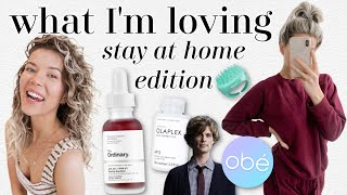 what I'm loving: home workouts, curly girl method, sweatsuits & more