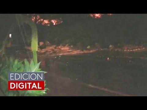 En video: Una familia huye desesperada para escapar de una avalancha de lodo en California