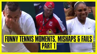 Tennis Mishaps, Fails & Funny Moments   Part 1