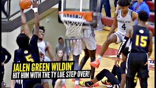 Jalen Green Is COMING For Ya' NECK! Hits Defender w/ Step Over in HEATED GAME vs 5 Star Zay Todd!