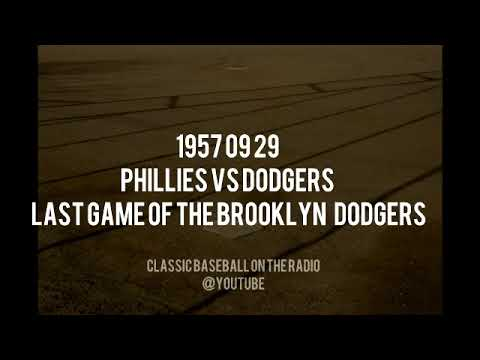 1957 09 29 Phillies vs Dodgers Last Game Of The Brooklyn Dodgers