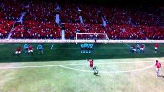 Ashley young simple dipping free kick