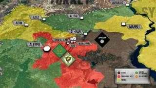 17 января 2017. Сирийская армия захватила деревню южнее Эль-Баба. Русский перевод.