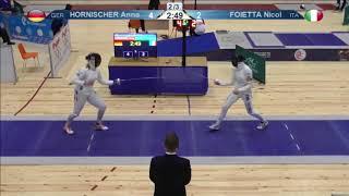 FE 2018 T32 03 F E Individual Yerevan ARM U23 European Championships BLUE FOIETTA ITA vs HORNISCHER thumbnail