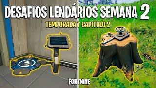 FORTNITE - RESOLVER DESAFIOS LENDÁRIOS SEMANA 2 TEMPORADA 7