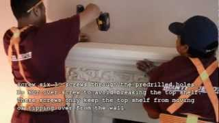 How To Install A Cast Stone Fireplace Mantel On A Masonry Fireplace By Mantel Depot