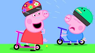 Peppa Pig Official Channel | George Pig Learns to Play Scooter