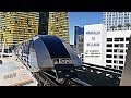 Riding the TRAM from Mandalay to Bellagio ! - YouTube
