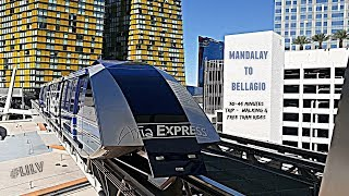 Riding the TRAM from Mandalay to Bellagio !