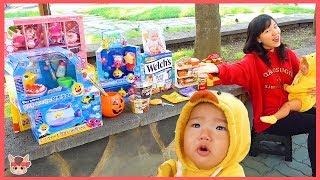 콩순이 마트 계산대! 상어가족 장난감 과자 젤리 국민이 다 있어요 Pretend Play Learn Colors with Toys | 말이야와아이들 MariAndKids