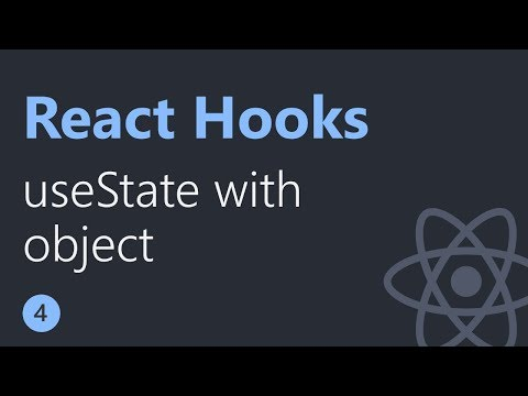 React Hooks Tutorial - 4 - useState with object thumbnail