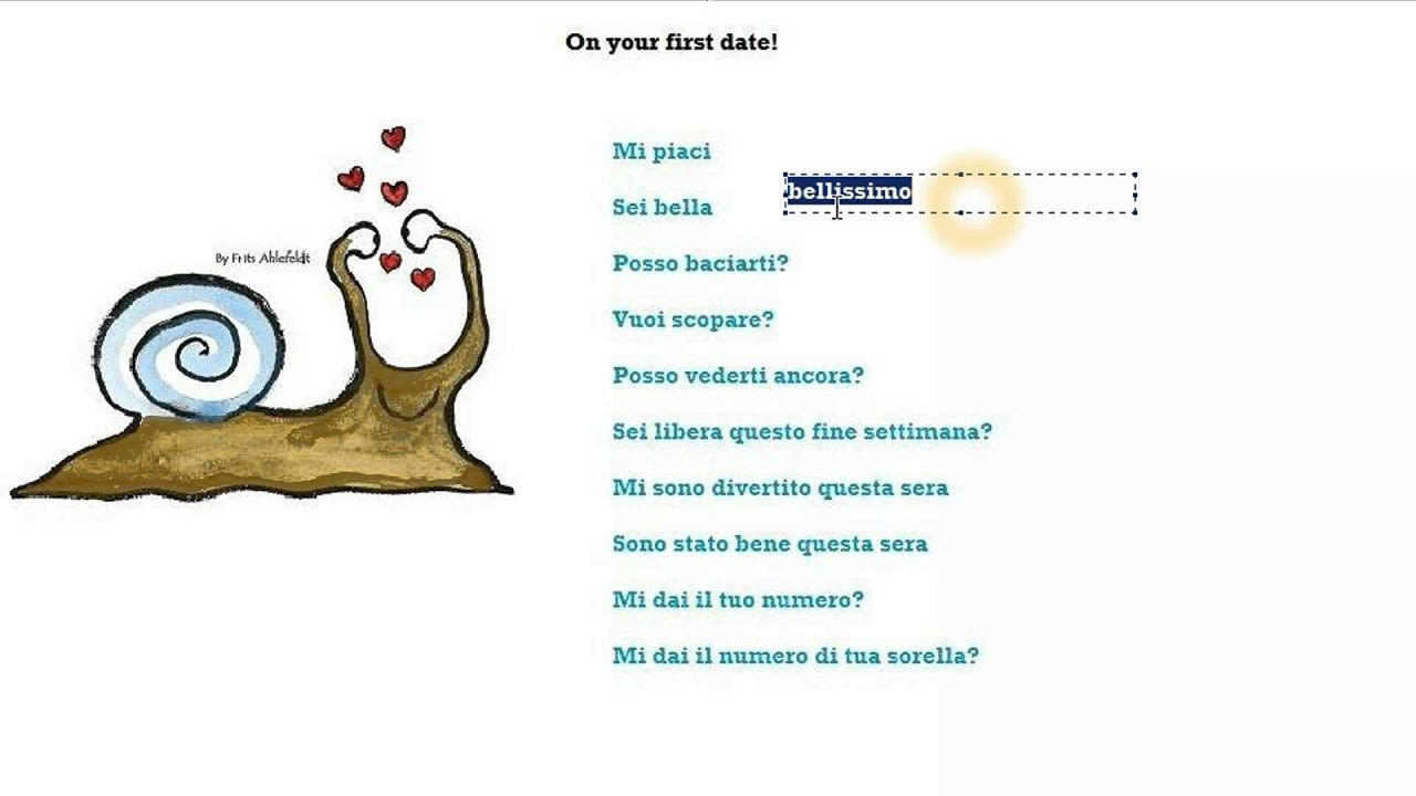 Italian Course Beginner Series 44: On Your First Date!