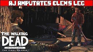 AJ Amputates Clem's Leg - THE WALKING DEAD SEASON 4 EPISODE 4