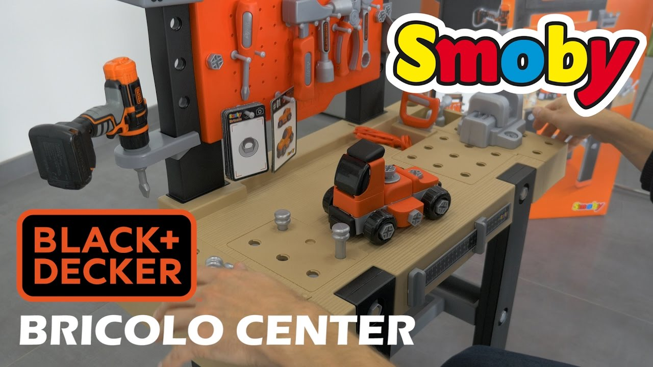 Smoby bricolo center black decker d mo du jouet for Outils black et decker