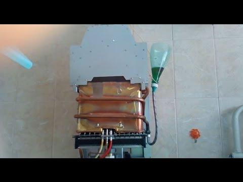 Как промыть колонку газовую
