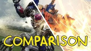 Transformers: Age of Extinction Trailer - Homemade Side by Side Comparison