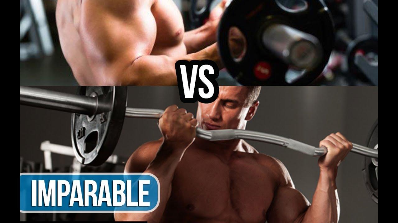 curl biceps barra recta vs barra z