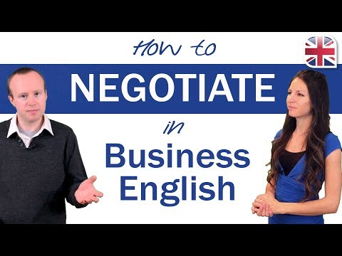 How to Negotiate in English - Business English Lesson
