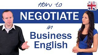 How to Negotiate iฑ English - Business English Lesson