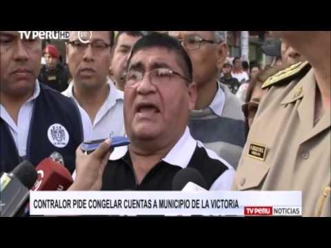 Contralor y Alcalde de La Victoria declaran sobre eventual congelamiento de cuentas de la comuna