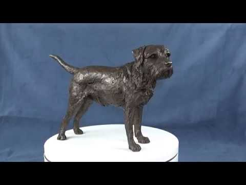 Border Terrier Sculpture video, Tanya Russell Dog Sculpture