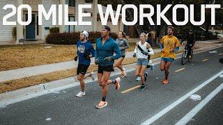 20 Mile Run Workout At Marathon Pace   Ironman Prep S2.E8