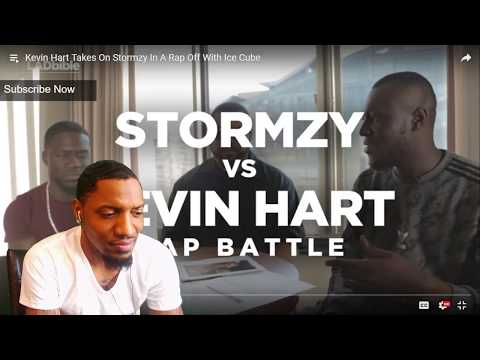 Kevin Hart Kills On Stormzy In A Rap Off With Ice Cube | REACTION