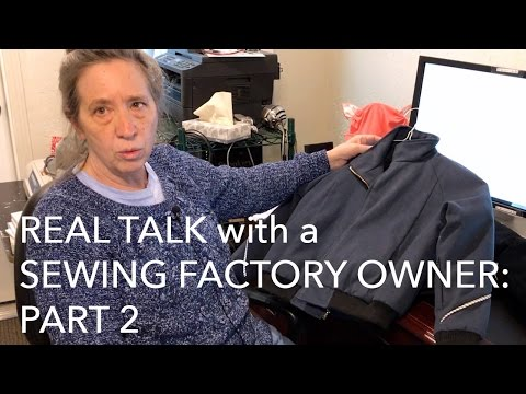 Interview: Sewing Factory Owner & Pattern Maker Kathleen Fasanella Part 2