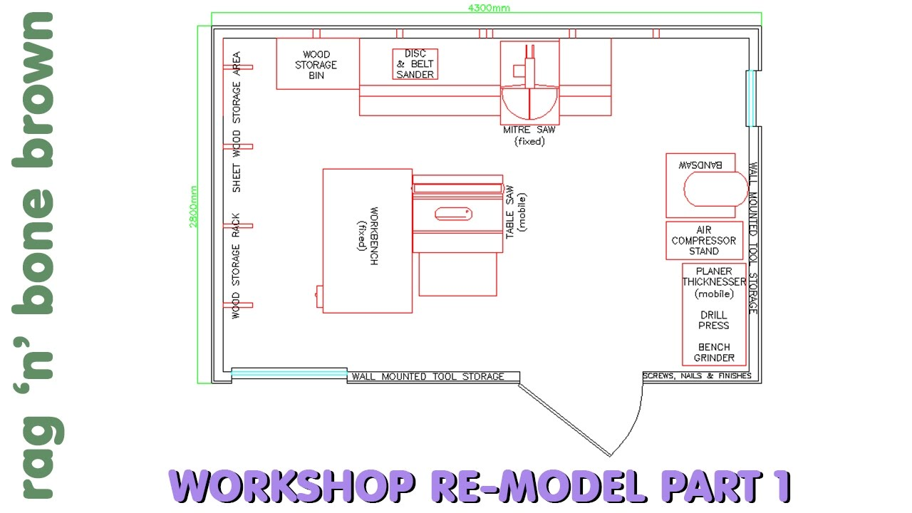 medium resolution of small workshop layout changes a quick introduction workshop re model episode 1