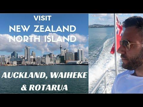 New Zealand Travel Vlog: Visit North Island: Auckland, Waiheke & Rotarua
