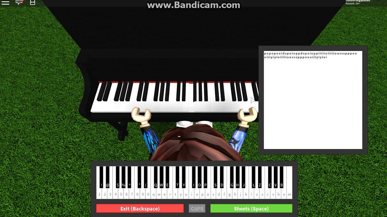 Roblox Piano Sheets Easy Alone Happier On Roblox Piano Marshmello Easy Youtube