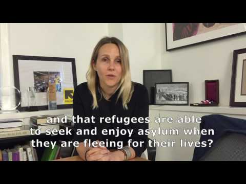 Sarah Case asks UN Secretary-General candidates about ensuring asylum for refugees