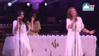 natasha st pier et anggun chantent vivre d amour  la basilique sainte thrse