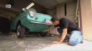 Водоплавающий ретро-автомобиль(Amphicar 770 был разработан в 60-х годах немецким конструктором Хансом Триппелем как автомобиль для суши и воды...., 2012-05-14T12:40:16.000Z)