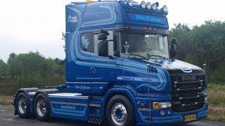 Scania T580 V8 Ebbe K. Jensen Danmark with loud pipe