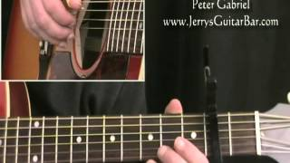 How To Play Peter Gabriel Solsbury Hill (intro only)