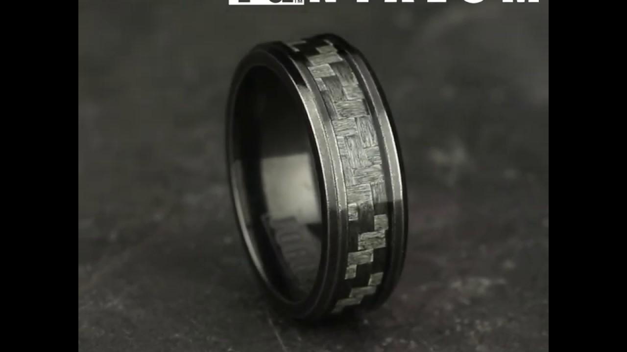 fc163b3028cc4 CF68478CFTA - 8mm Men's Tantalum And Carbon Fiber Ring