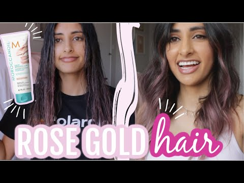 DYING MY HAIR PINK WITH THE MOROCCANOIL COLOR DEPOSITING MASK - ROSE GOLD DOES IT WORK?