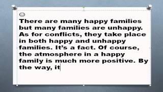 Family conflicts топик семейные конфликты проблемы